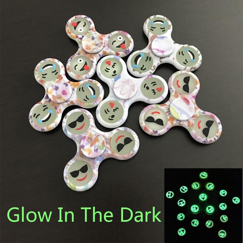 Hand Spinner Bearing Tri Spinner Fidget Toys Fidget Spinner Glow In The Dark Plastic EDC For