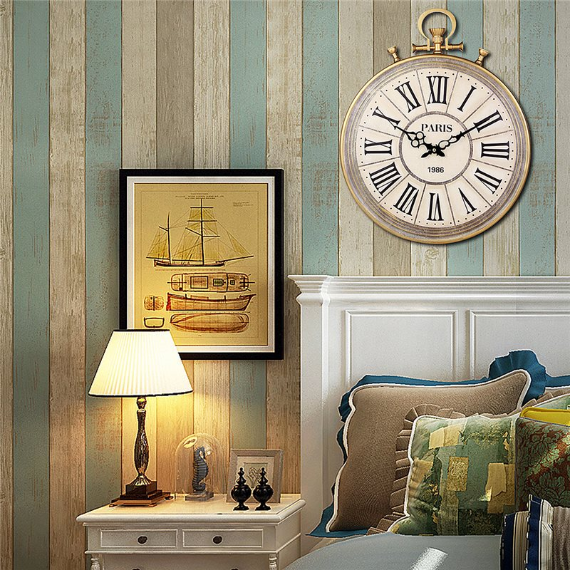 charminer absolutely mute quartz wall clock retro roman numerals large living room wall. Black Bedroom Furniture Sets. Home Design Ideas