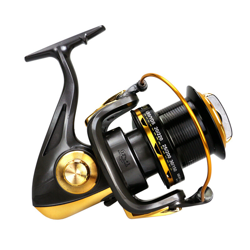 10000 Series 12+1 BB 4.6:1 Full Metal Spool Jigging Trolling Long Shot Casting Saltwater Surf Spinning Big Sea Fishing Reel haibo professional saltwater spinning fishing reel 5000 6000 7000 8000 9000 7bb 4 9 1 surf casting reel trolling jigging wheel