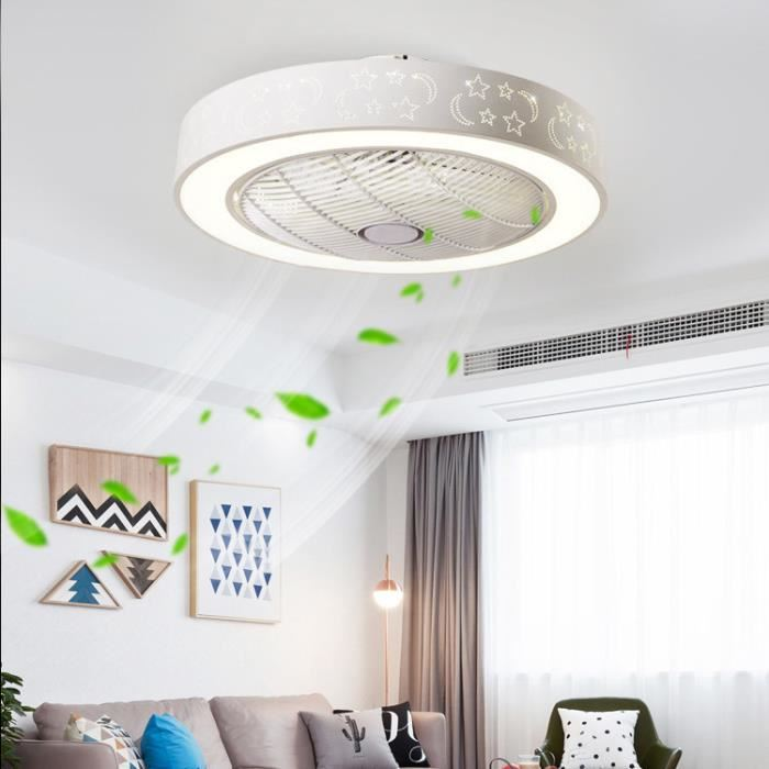 40W Fan lamp Invisible Bedroom LED Ceiling Lamp Living Room Dining Room Lamp Modern Simple Household