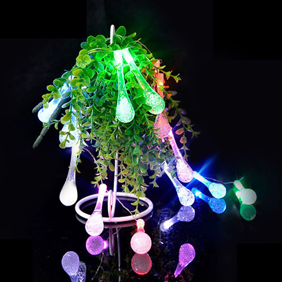 2.2m 20Leds USB LED String Light Waterdrop 8 Mode Twinkle Fairy Light Bulb Lamps Christmas Party Garland Home Decor Lighting (8)