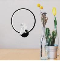 TL003 hot sale European modern style Nordic Loft elegant metal LED Round shape bird wall lamp