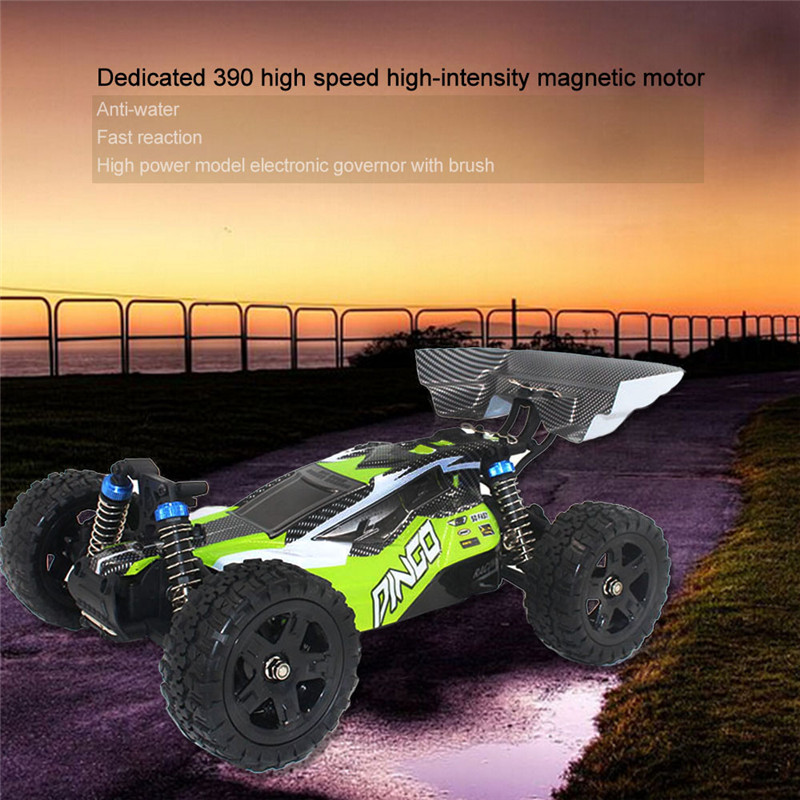 30-40KM/H RC racing car toy 1651 1/16 2.4G 4WD 390 Brush Motor Off-Road Remote Control Truck Dingo Best Toy Cars for kids vs remote control 1 32 detachable rc trailer truck toy with light and sounds car
