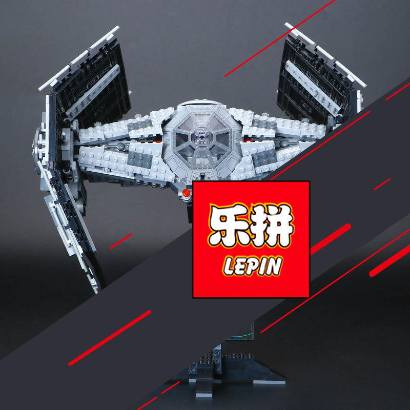 Lepin 05055 star wars the force awakens Vader's TIE Toys For Boys Model Building Kits Blocks LegoINGlys 75103 children gifts star wars 10373 force awakens tie advanced prototype building blocks toys for children gifts block compatible legoingly 75082