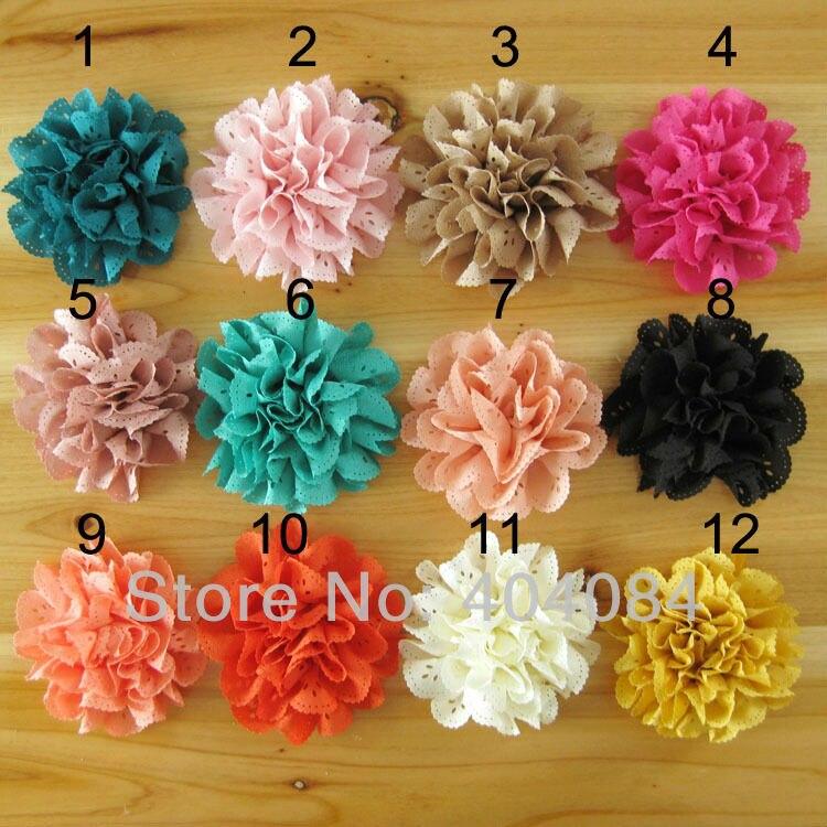 nueva pulgadas de flores de tela de bricolaje accesorios para el cabello diadema flores