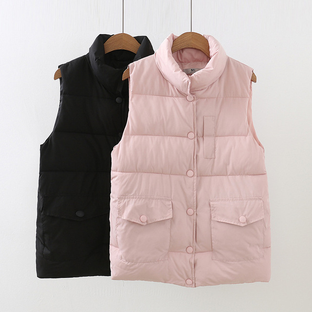 14523e40999 XL-5XL Plus Size Autumn Winter Coat Women Ladies Gilet Colete Feminino  Casual Waistcoat Female Sleeveless Cotton Vest Jacket