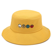 New Fashion Cute Fruit Embroidery Casual Bucket Hat for Men Women Students Outdoor Sun