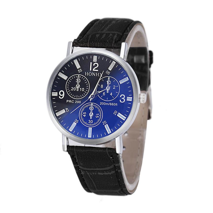 Relogio Masculino Watches Watch Dropshipping Gift Mens Luxury Crocodile Faux Leather Analog Blu-Ray Business Wrist August1 samsung ef aa710 slimcover чехол для galaxy a7 clear