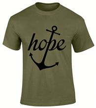 Hope anchor in Jesus Christ Christian Gospel Church Scriptures Men T Shirt  Free shipping Tops t-shirt Fashion