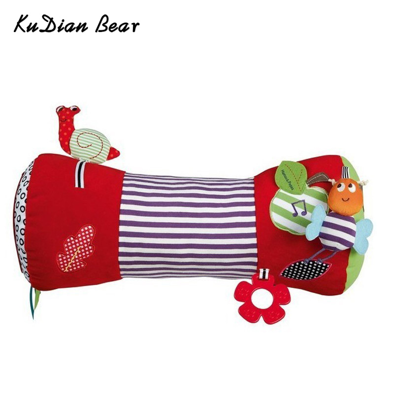 KUDIAN BEAR Musical Baby Toys Teether Kids Mobile Infant Toy Rattle Pillow Climb For 0-12 Months BYC014 PT49