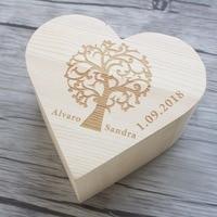 Personalized Wedding Guest Book Rustic Wood Heart Guestbook Alternative Drop Top Guestbook Custom Keepsake Box For