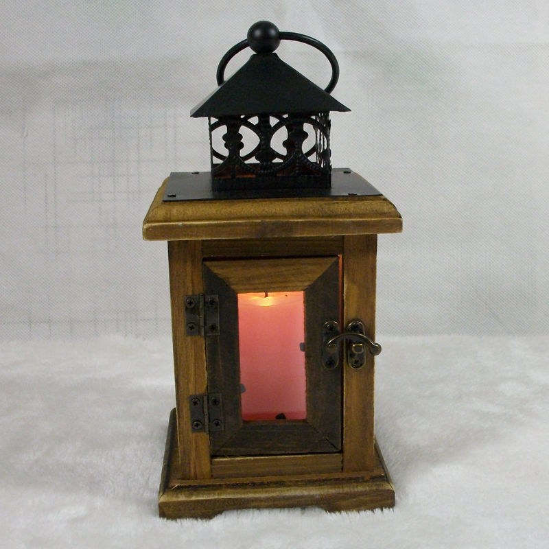 Classic wooden landing candle holder candle candle stand for Wooden garden lanterns