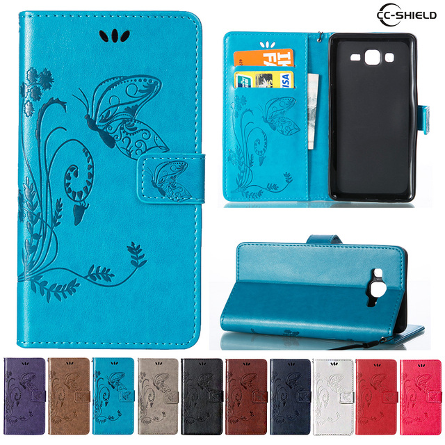 more photos 1676e a21f7 US $4.69 |Case for Samsung Galaxy On5 LTE G550T G550FY Leather Flip Cover  Wallet Case for Samsung On 5 SM G550T SM G550FY Mobile phone bag-in Flip ...