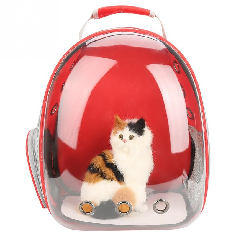 Topincn Portable Cute Cat Backpack Space Transparent Breathable Pet Cage Carrying Bag Outdoor Portable Packaging Bag Gatos