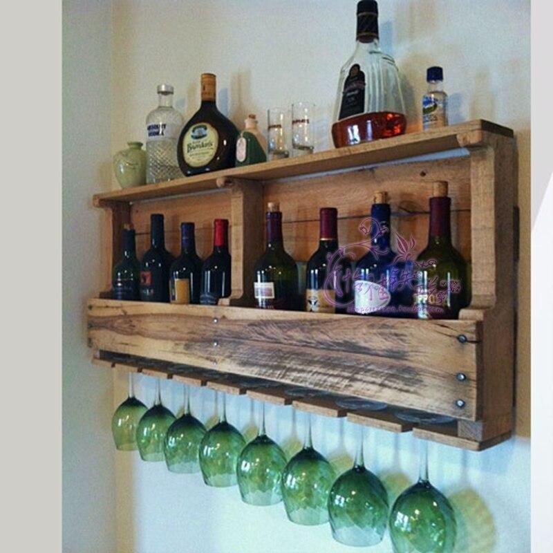 Continental Wine Grape Wine Bottled Wall Shelf Wall Shelf
