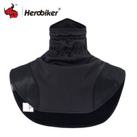 HEROBIKER Motorcycle Thermal Balaclavas Scarf Motorcycle Headwear Neck Fleece Caps Scarf Balaclava Windproof Warm Moto Mask