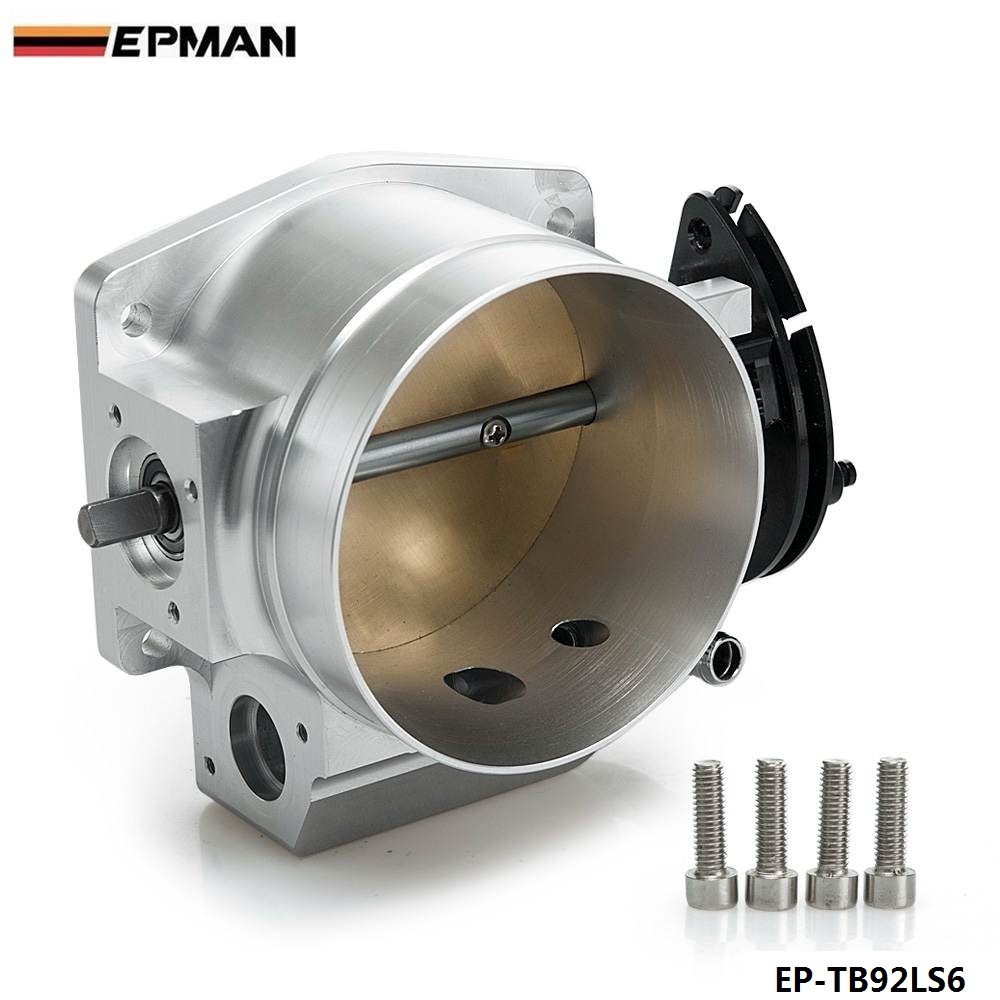 High Flow Aluminum Intake Manifold 92mm Throttle Body Performance Billet For Chevy GM GEN III LS1 LS2 LS6 EP-TB92LS6 pqy racing free shipping new 90mm throttle body performance intake manifold billet aluminum high flow pqy6990