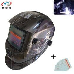 Darmowa wysyłka Terminator spoiny szybka maska ściemniania filtr automatyczny LED elektryczny kask czapka spawacza tworzywo pp miękkie TRQ-HD50-2200DE