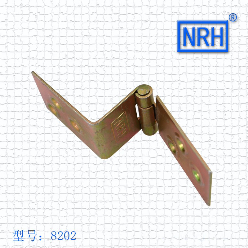 NRH8202color zinc plating Strap Hinge GB cold rolled steel Strap Hinge wooden case Strap Hinge High quality factory direct sales