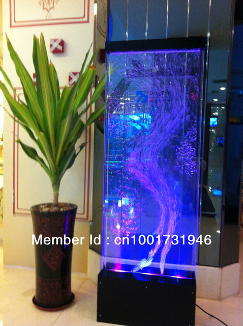 Floor Standing Acrylic Dancing Water Bubble Panel, water bubble display