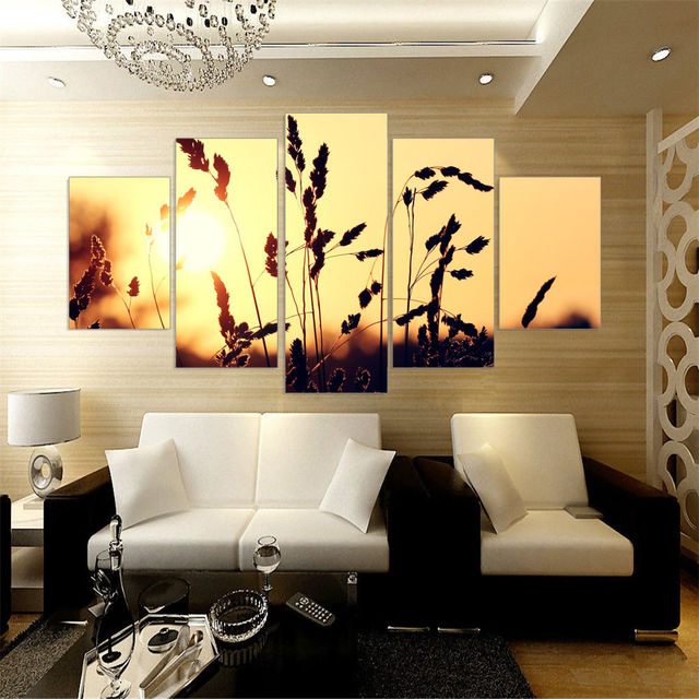 Aliexpress.com : Buy 5 Panel wall art decoration For Living ...