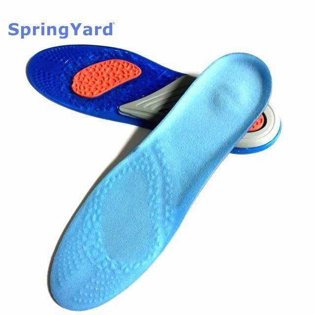 Gel Shock Absorption Cushion Breathable Anti-Slippery Running Basketball Sport Insoles for Men Women