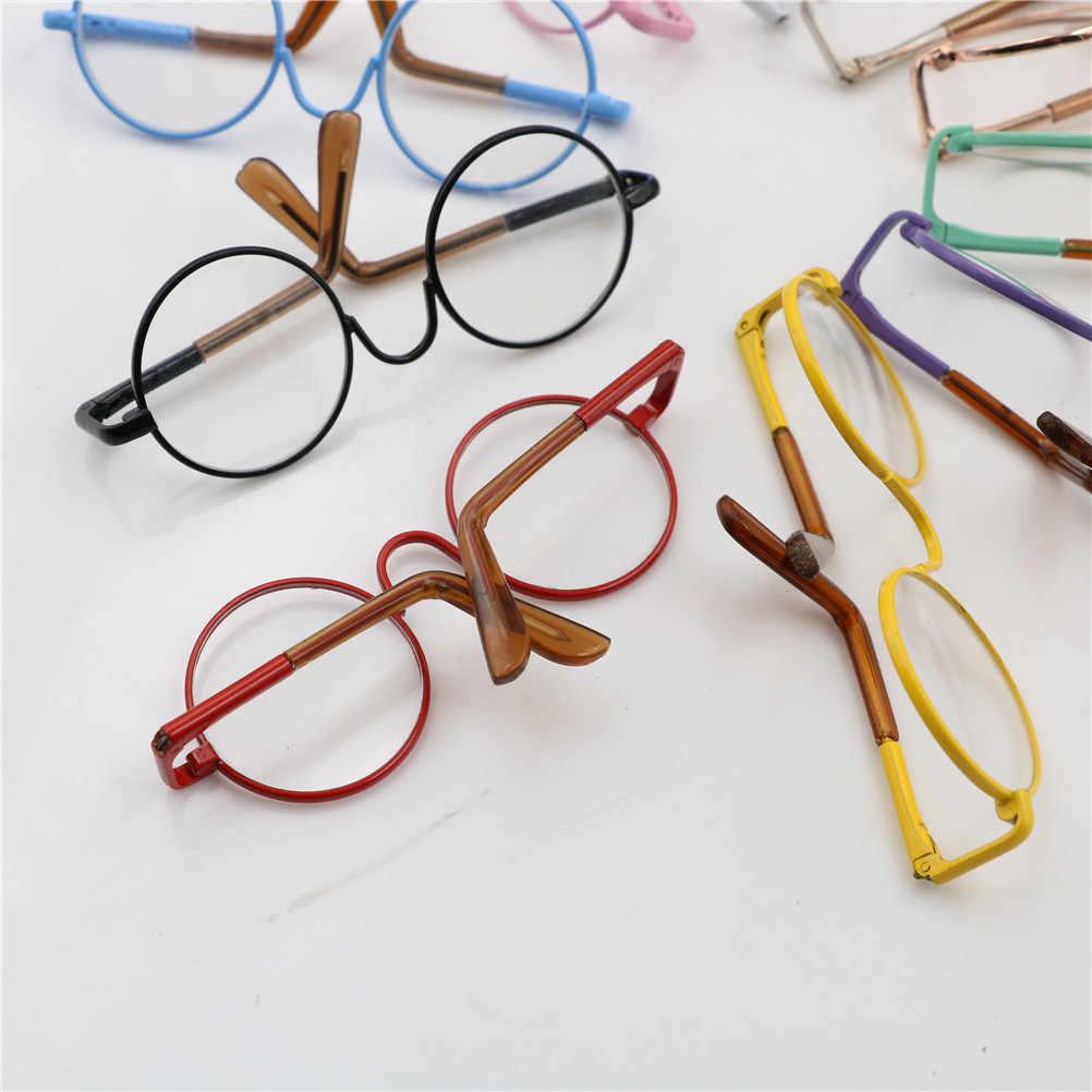 Gafas redondas de forma redonda gafas de sol de colores para muñeca