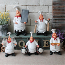 Hot sell American country resin crafts resin chef doll Creative Kitchen restaurant resin ornaments resin desk decoration