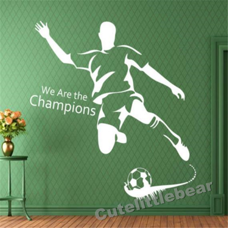 football boys living bedroom Wall Sticker for girl Art Decal