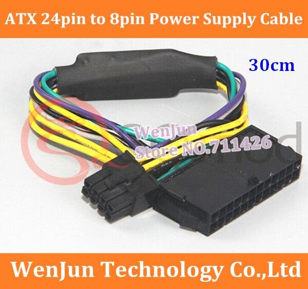 bilder für 20 STÜCKE dhl-freies Verschiffen 24Pin 24 P zu 8Pin ATX Netzteil Kabel Für DEL L Optiplex 3020 7020 9020 STÜCK Desktop Motherboard