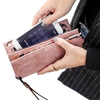 Geldbörse Frauen Brieftaschen frauen Zipper Münze Kupplung Berühmte Marke Designer Lange Brieftasche frauen Geldbörsen Weibliche Karte Halter Brieftaschen dame