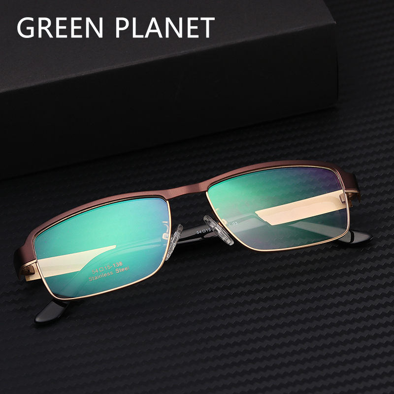 Men Metal Eye Glasses Frame Double Layer Trendy Round Safety Pads Clear Frame Reading Optical Spectacles #TF2020
