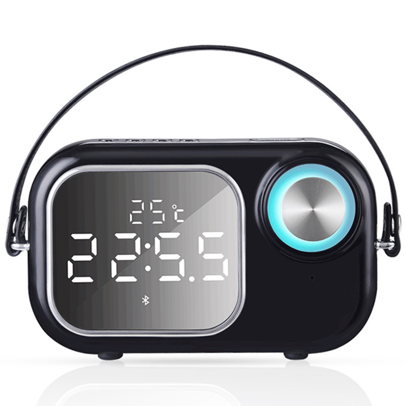 Portable FM Radio Retro Mirror Bluetooth Mobile Phone Call Speaker Subwoofer USB Player Wireless Mini Outdoor Smart Stereo Play mobile phone