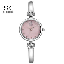 SK Marca de Lujo Mujeres Reloj de Acero Inoxidable de la Manera de Las Mujeres Viste el Reloj Reloj de Cuarzo de Las Muchachas de relojes Relogio Feminino S0013
