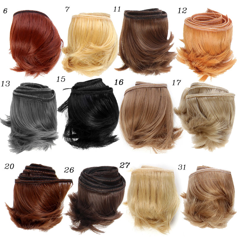 1pcs 5cm*100CM Bangs hairstyle modification For  1/3 1/4 1/6 BJD /SD DIY Dolls Accessories 1 3 1 4 1 6 1 8 1 12 bjd wigs fashion light gray fur wig bjd sd short wig for diy dollfie