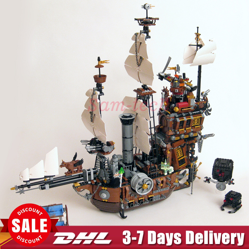 IN Stock DHL LEPIN 16002 Pirate Ship Metal Beard's Sea Cow LEPIN Model Building Blocks Bricks Toys Compatible 70810 dhl free shipping lepin 16002 pirate