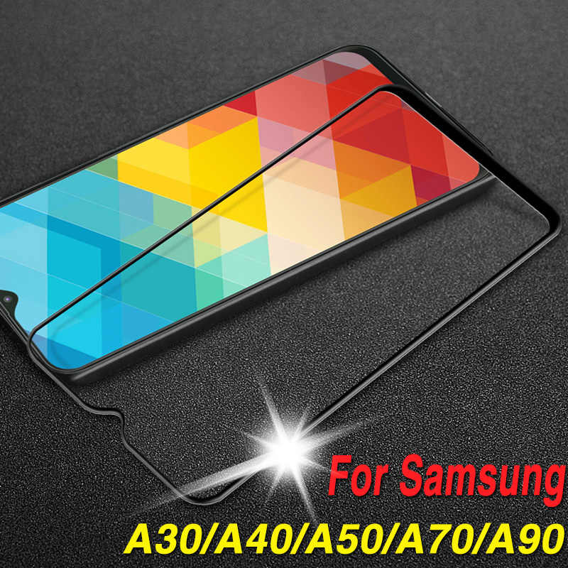 Protective glass on the for samsung galaxy a30 a40 a50 a70 a90 glas tremp a 30 40 50 90 samsyng sumsung galax tempered glasses