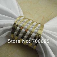 gold metal napkin rings,wedding  napkin ring, decoration  napkin ring, napkin holder,