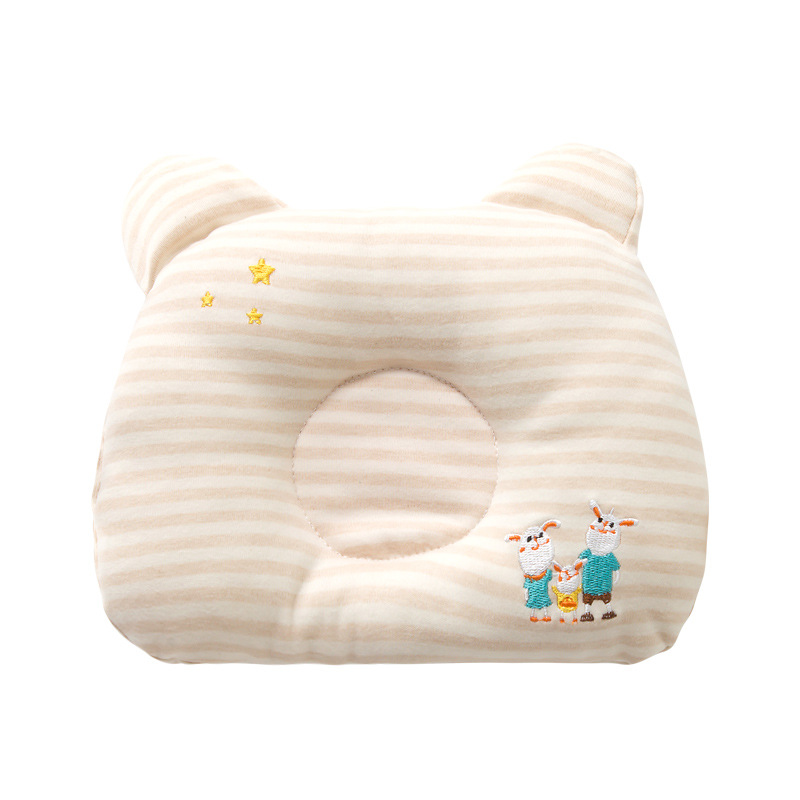 Round Breathable Baby Pillow Newborn Infant Shaping Pillow Cartoon Cotton Baby Sleeping Pillow