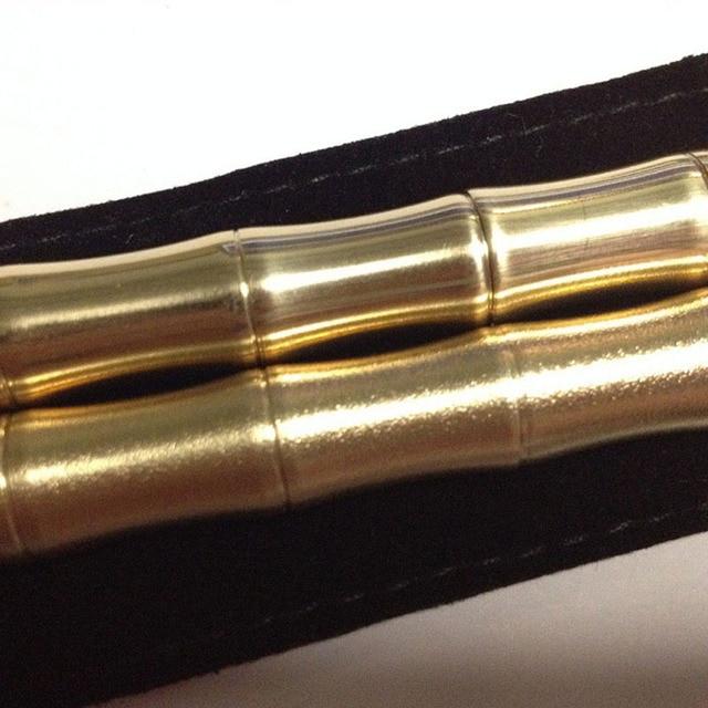 Stylo tactique en forme de bambou | Portable, stylo Gel, cuivre, métal, fait à la main en laiton, outil de marqueur neutre