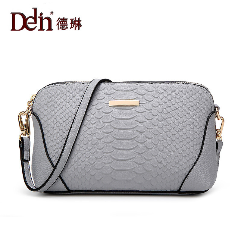 DELIN In the summer of 2017 female single shoulder bag women bag crocodile fashion shell bag bag special offer woman in the summer of 2016 youth popular color patent leather crocodile pillow boston crossbody bag business mini pochette