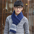 Good quality wool geometric printed new fashion men scarf business or casual style comfortable winter scarf