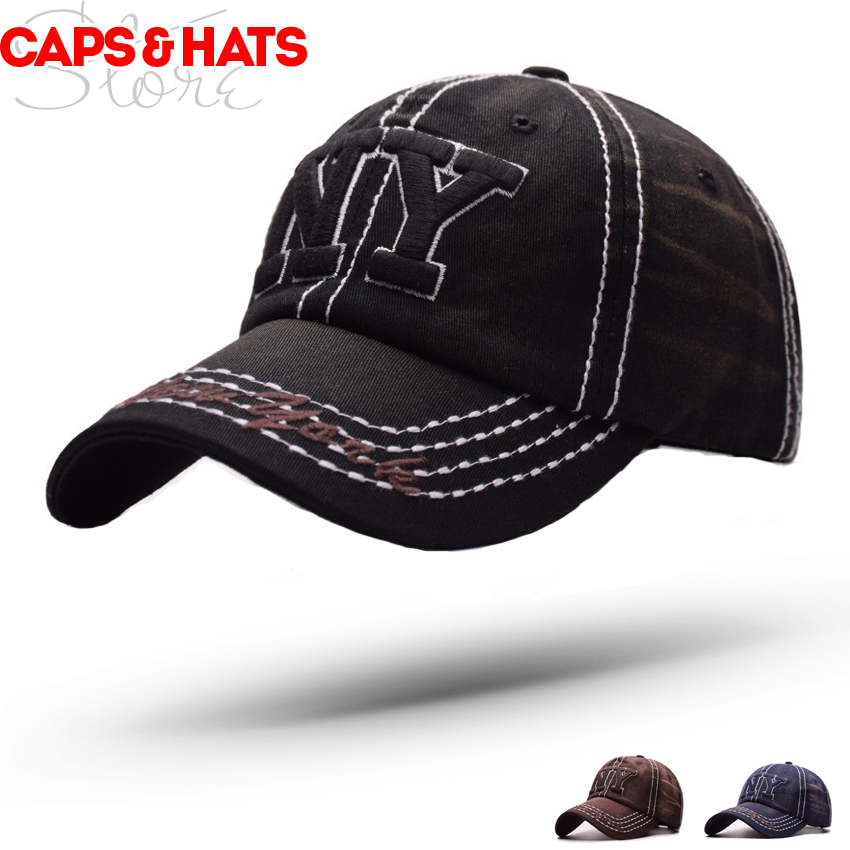 a172ccba4d2 2018 New York Washed Old NY Baseball Cap Summer Hat Men Gorra Summer Cap  For Women