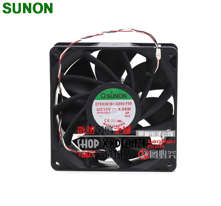 For Sunon EFE0381B1-Q000-F99 14CM <font><b>140mm</b></font> 14038 DC <font><b>12V</b></font> 4.08W dual ball bearing server inverter cooling <font><b>fan</b></font> image