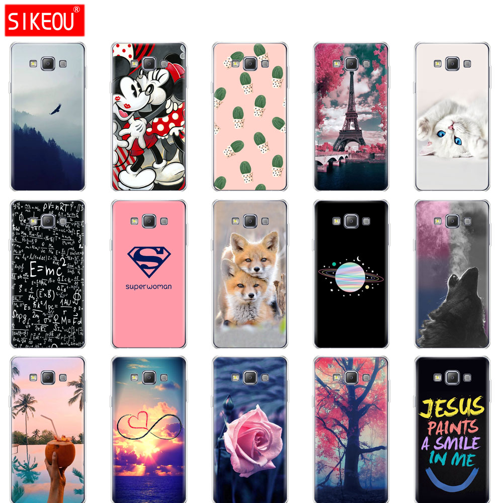 silicone Case For Samsung Galaxy A3 2015 case A300 A300F Soft TPU Cover for Samsung A 3 2015 funda full 360 Protective Case image