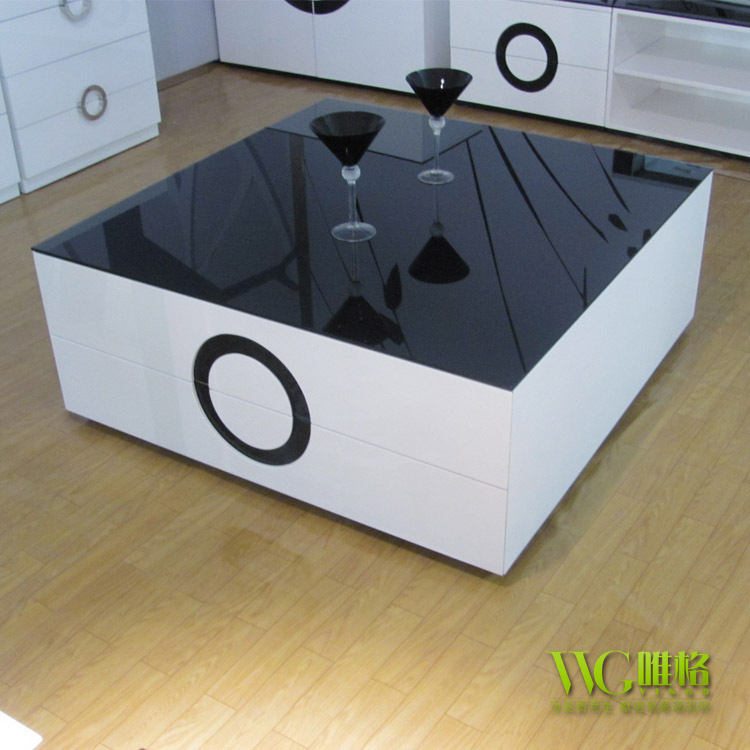 New Modern High Gloss White Rectangle Coffee Table Living: VEGA New Boutique Museum Of Modern Minimalist Furniture