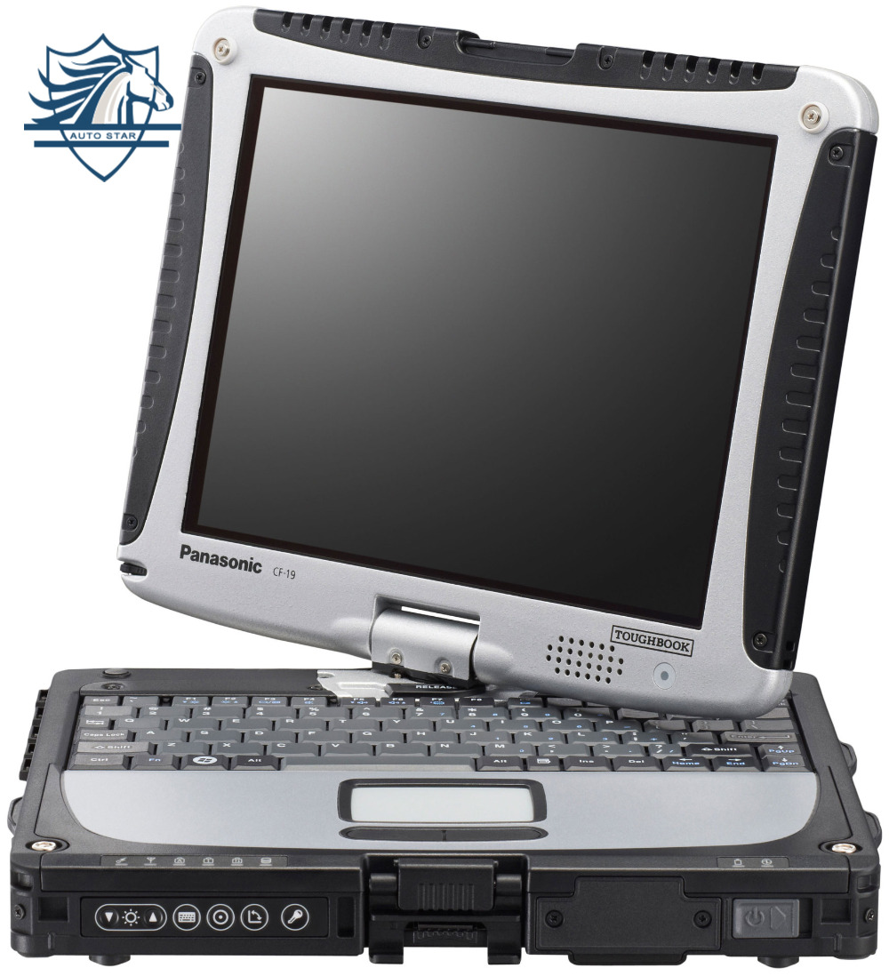Toughbook CF19 CF-19 Laptop Auto Maintenance Computer 180 Degrees Rotable Touchscreen Waterproof Anti-Corrosion Military ...