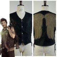 The Walking Dead Daryl Dixon Vest Angel Wings Jacket Motorcycle Vest Men Cosplay Costume Custom Made