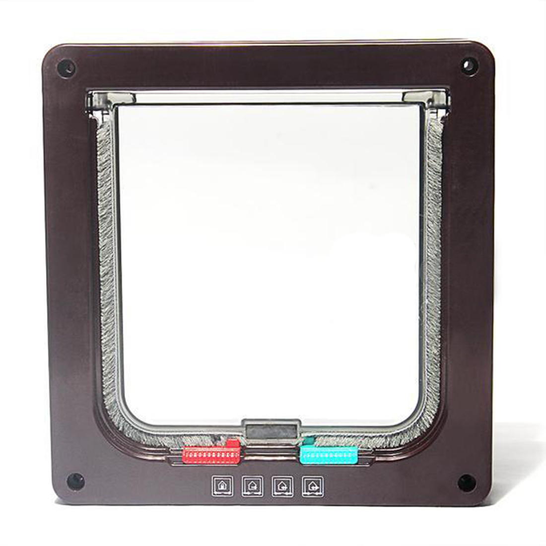 Unique Waterproof 4 Way Cat Dog Pet Locking Flap Door Cat Flap High Quality in Cat Crates Cages from Home Garden