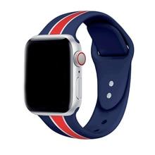 все цены на Sport Silicone strap  for apple watch band 44mm 40mm iwatch 42mm 38mm bands Soft wrist bracelet belt series 4 3 2 1 Accessories онлайн